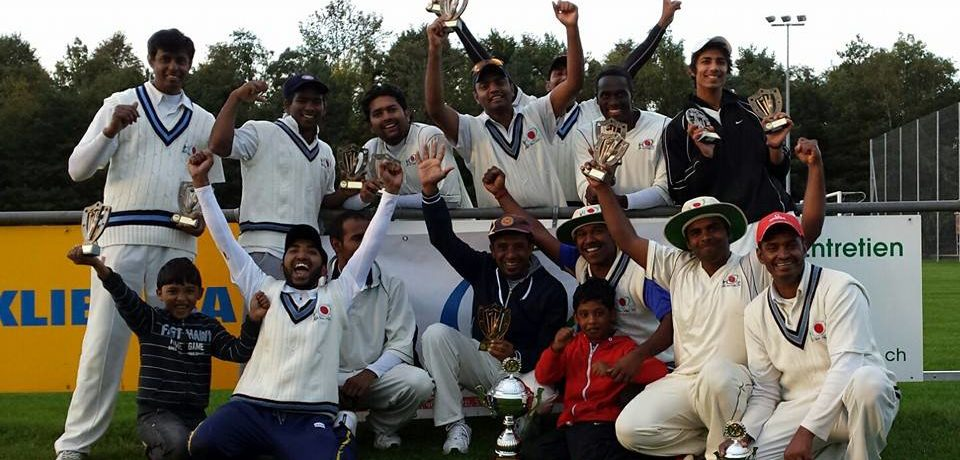 We are champions of Cricket Switzerland Premier League 2013